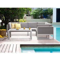 Aluminiowe meble ogrodowe biało-szare - meble balkonowe - vinci wyprodukowany przez Beliani