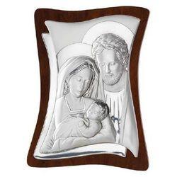 Valenti & co Dewocjonalia srebrny obrazek świętej rodziny 9x11cm grawer