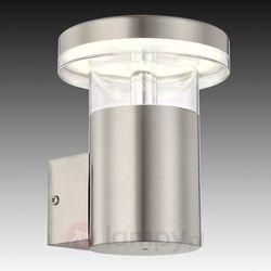 Kinkiet lampa elewacyjna sergio 34145 zewnętrzna oprawa ścienna z czujnikiem ruchu led 6w tuba outdoor ip44 srebrna marki Globo