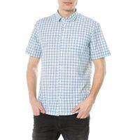 Tom Tailor Koszula Niebieski Zielony Biały L, kolor zielony