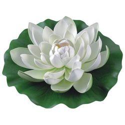 Lilia wodna z gąbki fi 28 cm biała marki Greenmill