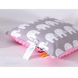 poduszka minky dwustronna 40x40 słoń szary / róż marki Mamo-tato