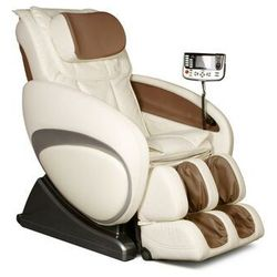 Fotel masujący MOON - System wprowadzający w stan nieważkości (antygrawitacyjny) - Beżowy, kolor beżowy