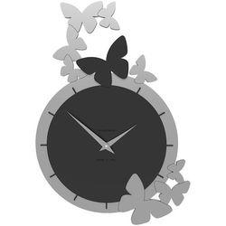 Zegar ścienny Dancing Butterflies CalleaDesign czarny, kolor czarny