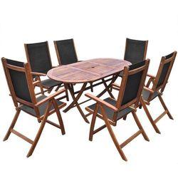 zestaw ogrodowy z drewna akacjowego - 7 elementów, marki Vidaxl