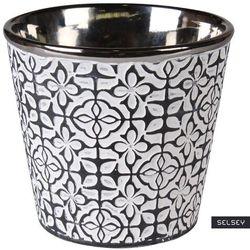 SELSEY Osłonka na doniczkę Ceana ceramiczna 13 cm grafitowa (5903025619026)