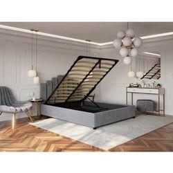 Łóżko 180x200 tapicerowane venezia + pojemnik welur szare marki Big meble