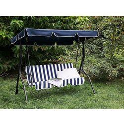 Huśtawka niebiesko-biała – meble ogrodowe – stal – ławka – CHAPLIN