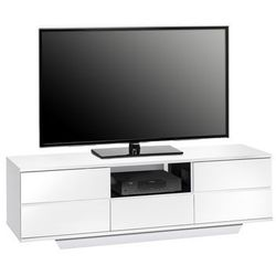 Maja-möbel Stolik pod telewizor, 150 cm, biały, wysoki połysk, mdf, 77065647