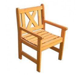 Zestaw 2 x krzesło ogrodowe ALPEN pomarańczowa FSC