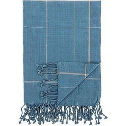 Narzuta w kratę 130 x 170 cm niebieska marki Bloomingville