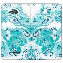 Flex book fantastic - sony xperia e4g - etui na telefon flex book fantastic - niebieski marmur wyprodukowany p