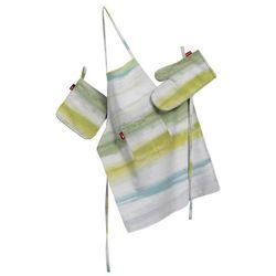 komplet kuchenny fartuch,rękawica i łapacz, zielono-szaro-morska, kpl, aquarelle od producenta Dekoria
