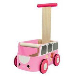 Drewniany chodzik różowy van