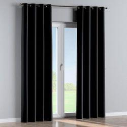 zasłona na kółkach 1 szt., głęboka czerń, 1szt 130 × 260 cm, velvet marki Dekoria