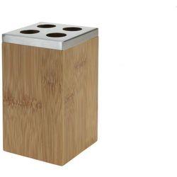4home Stojak, pojemnik na szczoteczki do zębów, bambus