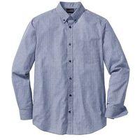 Bonprix Koszula biznesowa w kratę glencheck regular fit  niebiesko-biały wzorzysty