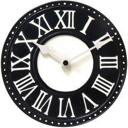 Zegar stołowy Nextime London Roman Table czarny, kolor czarny