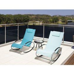 Krzesło ogrodowe niebieskie tekstylne bujane campo marki Beliani