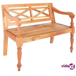 Vidaxl ławka batavia, 98 cm, lite drewno mahoniowe, jasnobrązowa