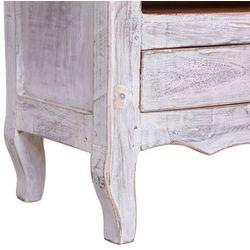 vidaXL Szafka pod TV, 120 x 30 x 40 cm, biała, lite drewno odzyskane
