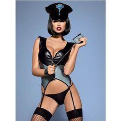 Police gorset 5-częściowy S/M z kategorii Kostiumy erotyczne
