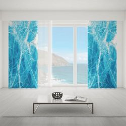 Zasłona okienna na wymiar - BLUE MARBLE WEB