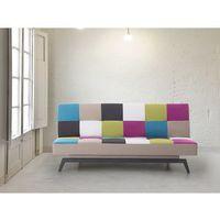 Sofa do spania - patchwork - kanapa - rozkładana - wypoczynek - LEEDS