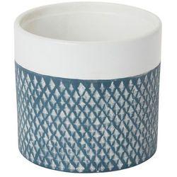 Doniczka ceramiczna ozdobna 12 cm niebieska marki Goodhome