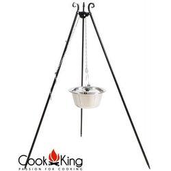 Kociołek węgierski nierdzewny na trójnogu 14l + pokrywa, produkt marki CookKing