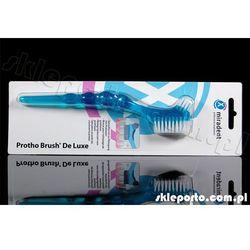 Miradent szczoteczka do protez Protho Brush De Luxe - szczotka protezy aparaty szyny (akcesoria do protez)