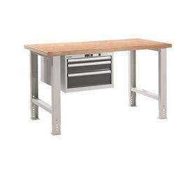 Lista Stół roboczy kompletny, blat roboczy z multipleksu bukowego, wys. 740 - 1090 mm,