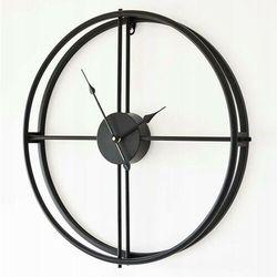 Zegar minimalistyczny metalowy czarny, kolor czarny
