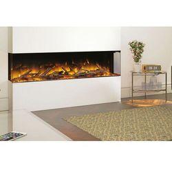 Kaseta do montażu ściennego lub zabudowy Flamerite Fires Glazer 1500-1/2/3 szyby. Efekt Nitra Flame - 20 kolorów LED-PROMOCJA