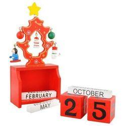Drewniany Kalendarz Świąteczny