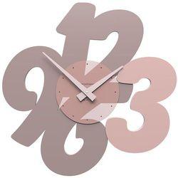 Zegar ścienny Transparencies CalleaDesign szara śliwka, kolor szary