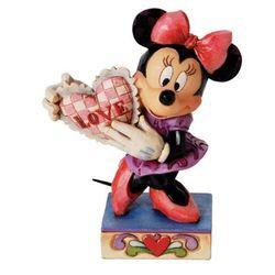 Minnie mouse with heart myszka love serce 4026085 figurka ozdoba świąteczna marki Jim shore