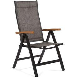 Home&garden Krzesło ogrodowe aluminiowe florencja black / brown (5902425326558)