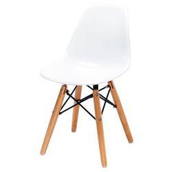 King home Krzesło dziecięce junior dsw premium - polipropylen, podstawa bukowa
