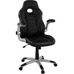 Mks Sportowy czarny fotel biurowy gabinetowy austin - czarny / czarny / czarny (40040325)