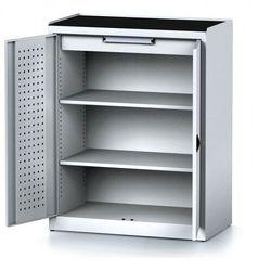 Szafa warsztatowa MECHANIC, 1170 x 920 x 500 mm, 2 półki, 1 szuflada, szare drzwi