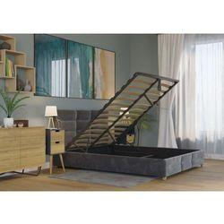 Łóżko 160x200 tapicerowane bergamo + pojemnik welur ciemno szare marki Big meble