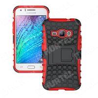 Pancerne etui Kickstand Samsung Galaxy J1 2016 J120 czerwone - Czerwony, kup u jednego z partnerów
