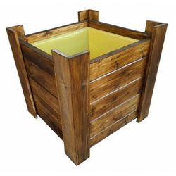 Drewniana kwadratowa donica ogrodowa - Wanda