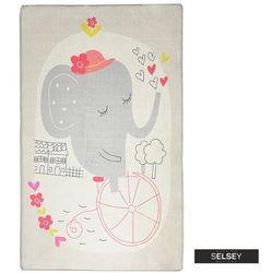 Selsey dywan do pokoju dziecięcego dinkley słoń szary 100x160 cm