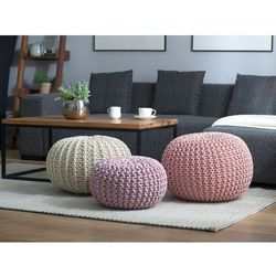 Pufa różowa - hoker - podnóżek - otomana - 50x35 cm - conrad marki Beliani