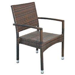 Krzesło ogrodowe technorattanowe Doris Brown (5902425321843)
