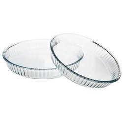 Dwie okrągłe formy do pieczenia ciast - szklane, 32, 26 cm