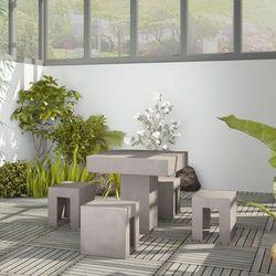 5-częściowy zestaw jadalniany ogrodowy, beton marki Vidaxl