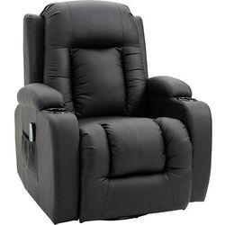Aosom Fotel do masażu tv + grzanie